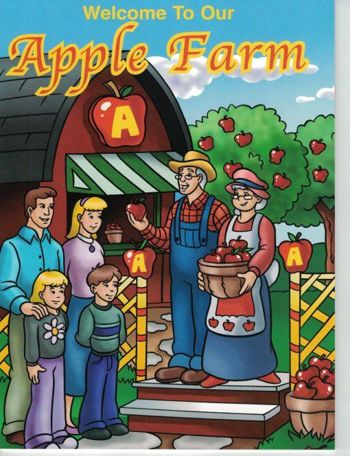 apple farm coloring book