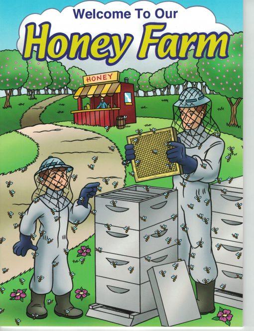 honey farm coloring farm bee children book