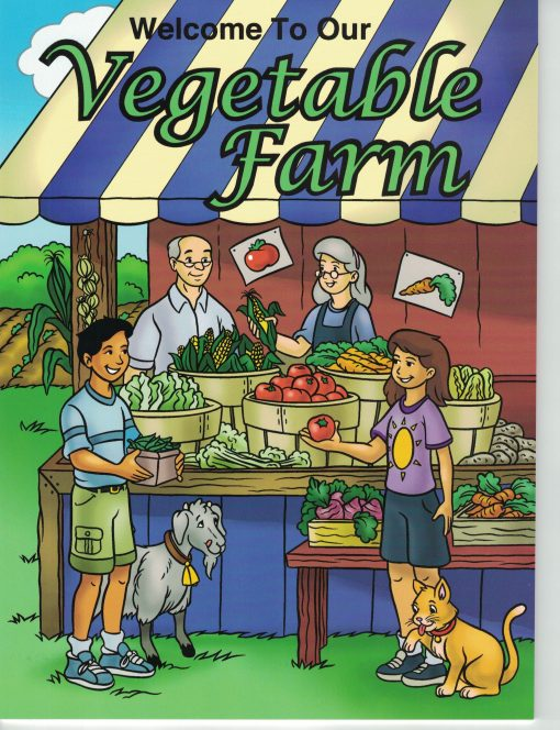 vegetable farm coloring book