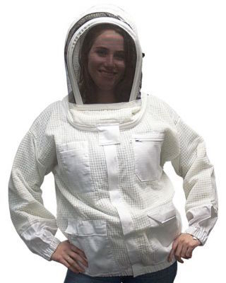 vented beekeeping jacket with veil