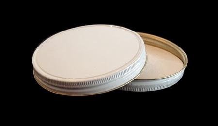 58mm white metal honey jar lid