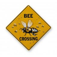 bee crossing yard apiary sign