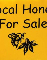 gf235 local honey for sale yard sign