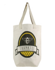 bee thankful canvas tote bag 2