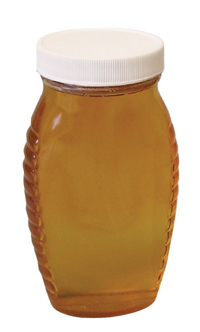 cn655 plastic queenline 1lb honey jars