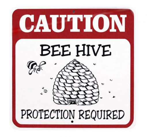 gf103 caution bees sign