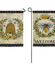 queen bee garden flag