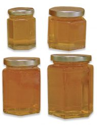 hex honey jars glass hexagon jars