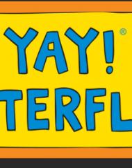 yay! butterflies! magnet