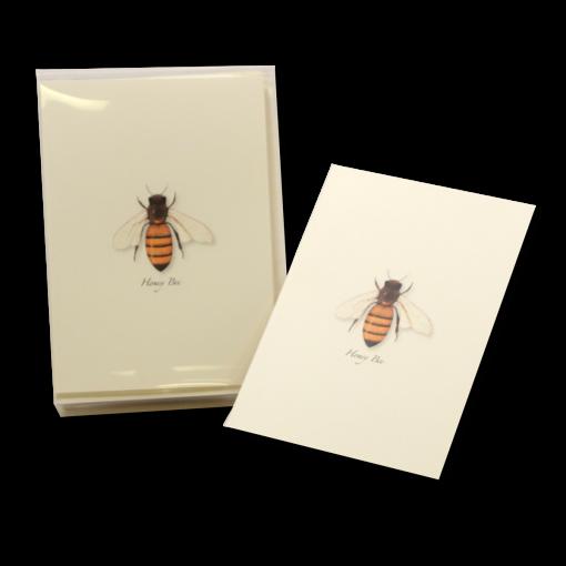 honey bee notecard honeybee greeting card