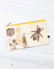Honey Bee Zipper Case