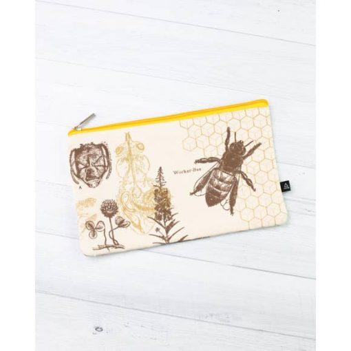 Honey Bee Zipper Case