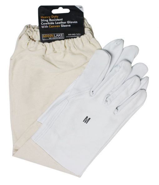 economy cowhide leather beekeeping gloves
